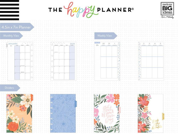 2020 Mini Happy Planner® - Lovely Blooms - 12 Months