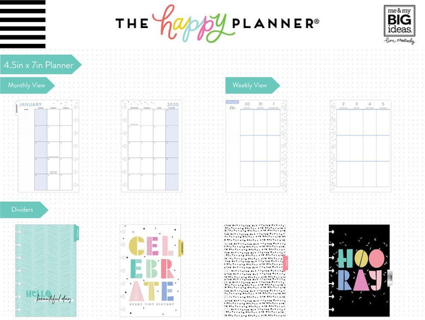 2020 Mini Happy Planner® - Funky Brights - 12 Months