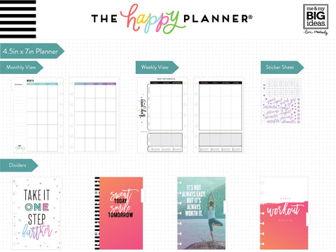 12 Months – UNDATED - MINI Happy Planner® - Sweat, Smile, Repeat