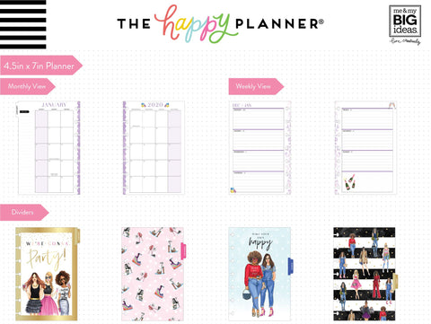 2020 Mini Happy Planner® x Rongrong - Life Is Beautiful - 12 Months