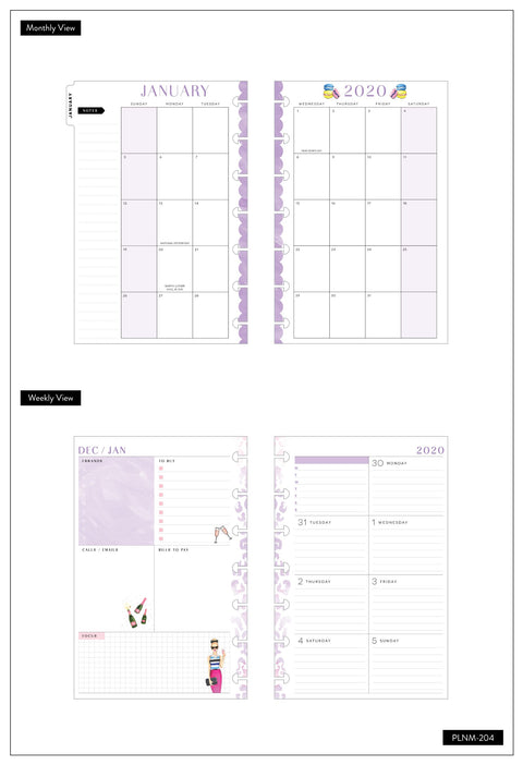 2020 Mini Happy Planner® x Rongrong - Babes Support Babes - 12 Months