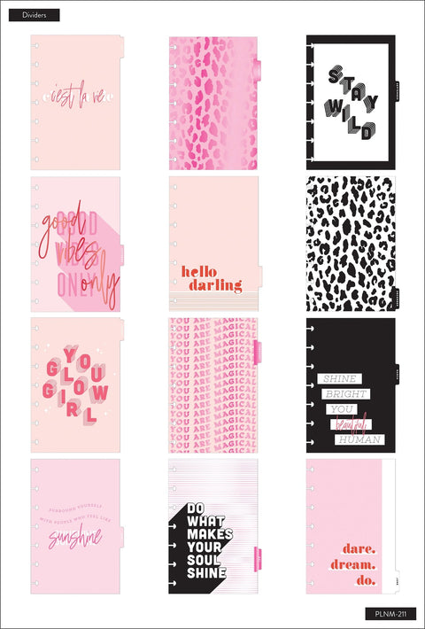 Mini Dashboard Happy Planner® - Pink Is The New Black  - 12 Months