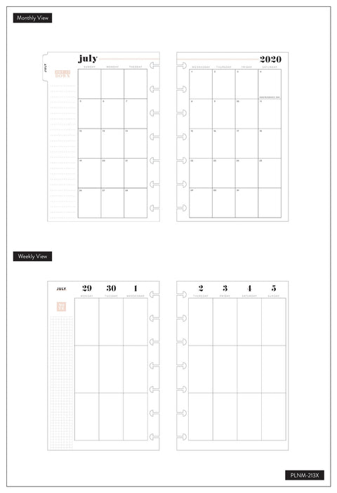 Mini Vertical Happy Planner® - Glitter Paint  - 12 Months