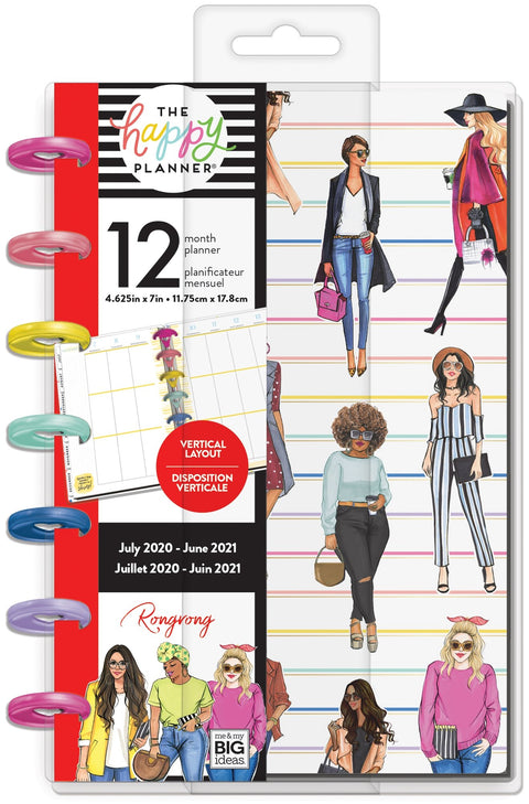 Mini Vertical Happy Planner® - Rongrong Girl Gang - 12 Months
