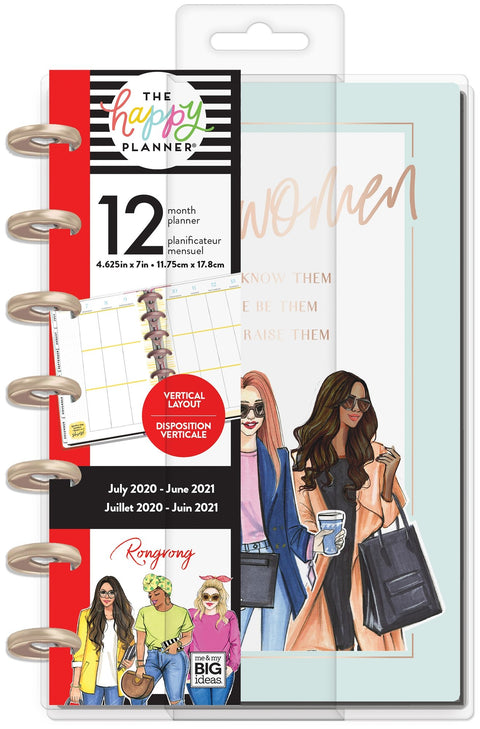 Mini Vertical Happy Planner® - Rongrong Kind Women - 12 Months