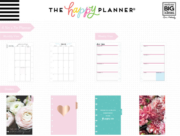 2019 Mini Happy Planner® - Fresh Romance (horizontal)