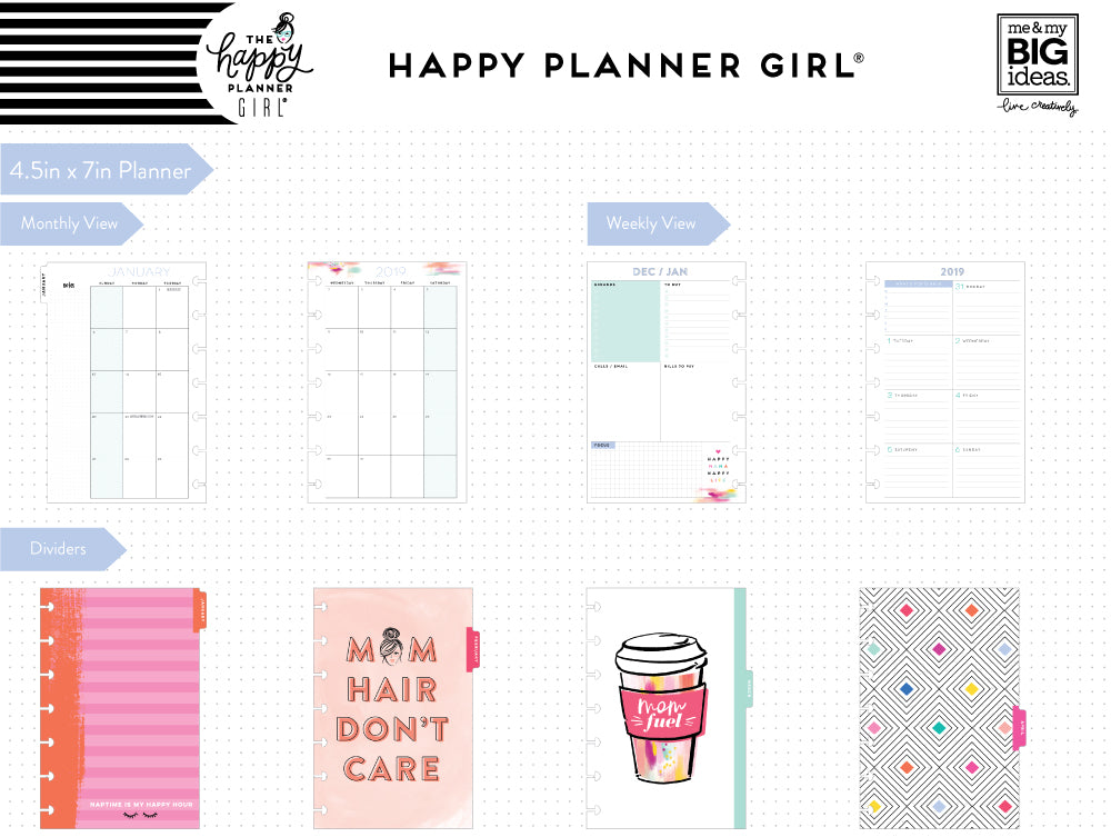2019 deluxe mini 12 month planner super mom dashboard layout