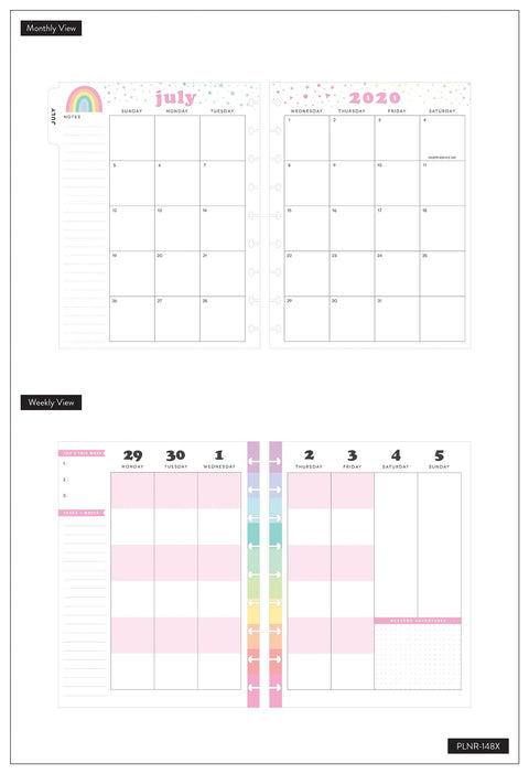 Classic Color Blocked Happy Planner® - Pastel Rainbow - 18 Months