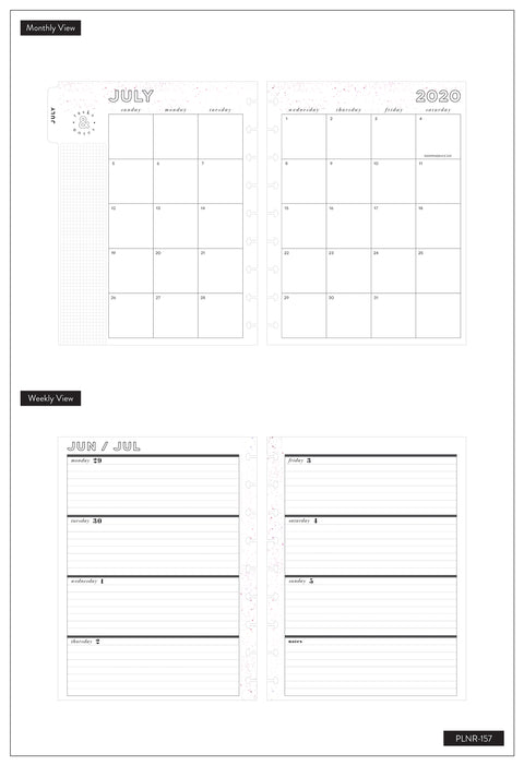 Classic Horizontal Happy Planner® - Crystal Vibes - 18 Months