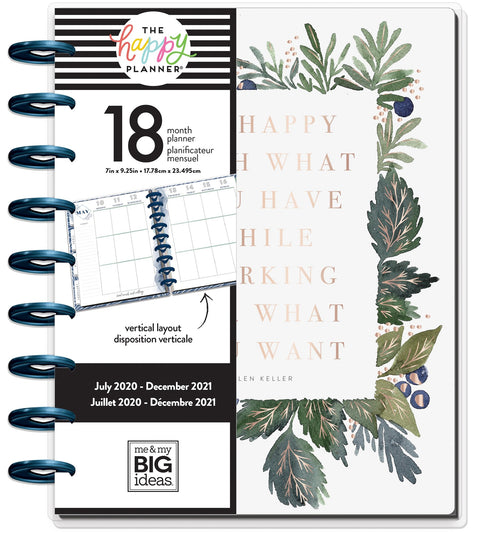 Classic Vertical Happy Planner® - Green Garden - 18 Months