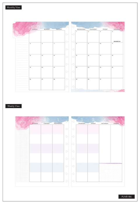 Classic Color Blocked Happy Planner® - Bold Watercolor Make It Happen Today - 18 Months