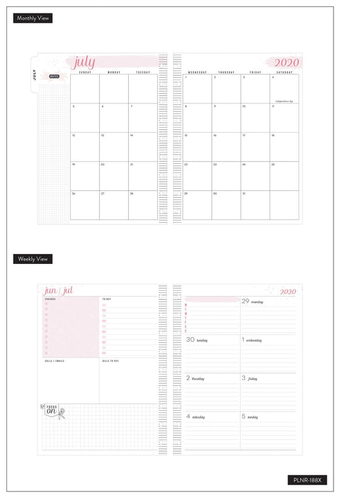 Classic Dashboard Happy Planner® - Floral Line Art - 18 Months