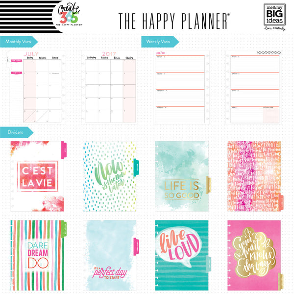 2017-2018 CLASSIC Happy Planner® - Live Loud / HORIZONTAL