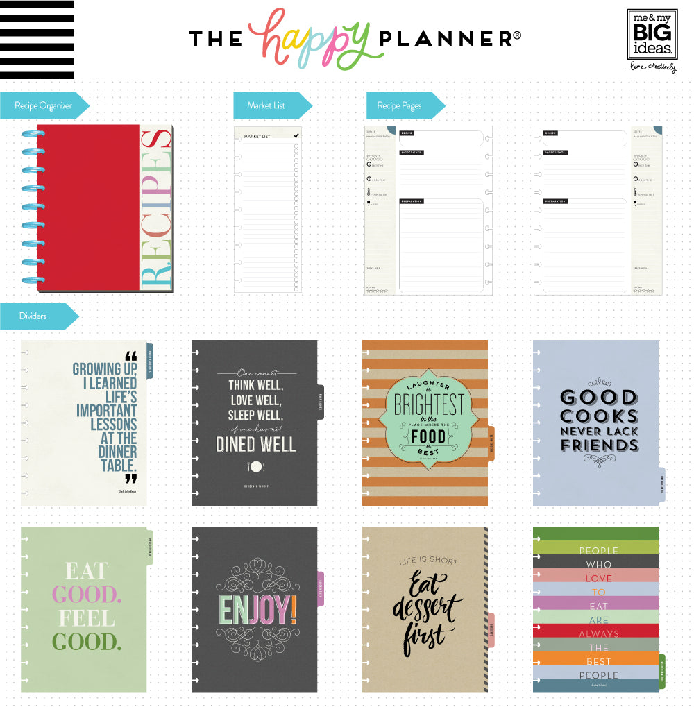 the happy planner recipe organizer me my big ideas