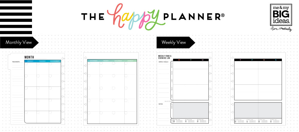 classic happy planner get fit planner 12 months me my big ideas