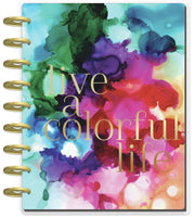 Undated Jewel Paint Splash Dashboard Happy Planner® - 12 Months