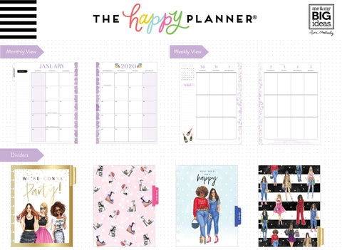 2020 Classic Happy Planner® x Rongrong - Always Choose Happy - 12 Months