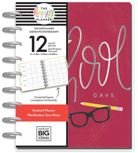 Undated Classic Teacher Happy Planner® - School Days - 12 Months
