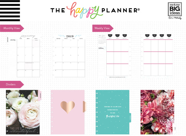 2019 Classic Happy Planner® - Fresh Romance (vertical)