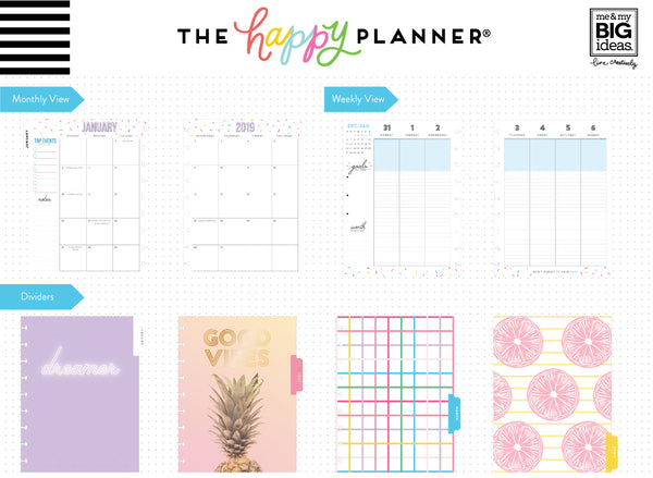 2019 Classic Happy Planner® - Life is a Party (lined vertical)
