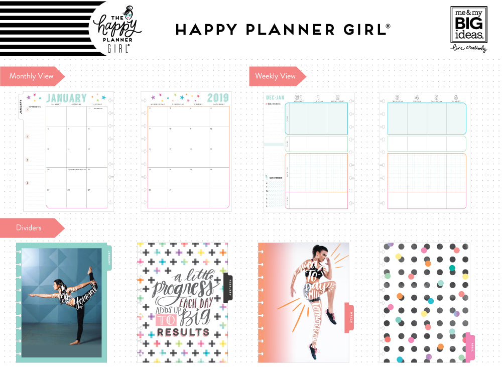 2019 deluxe classic 12 month planner healthy hero fitness layout