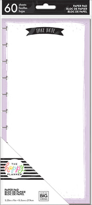 BIG Punched Note Pad - Take Note