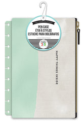 Snap In Pen Case - Mint/White