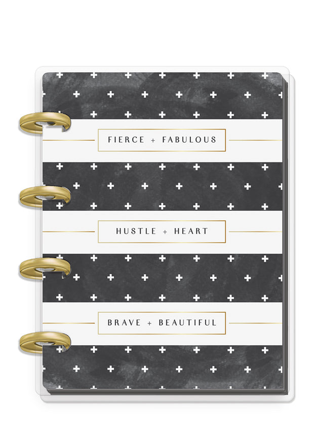 Micro Happy Notes™ - Rongrong - Black & White Stripe
