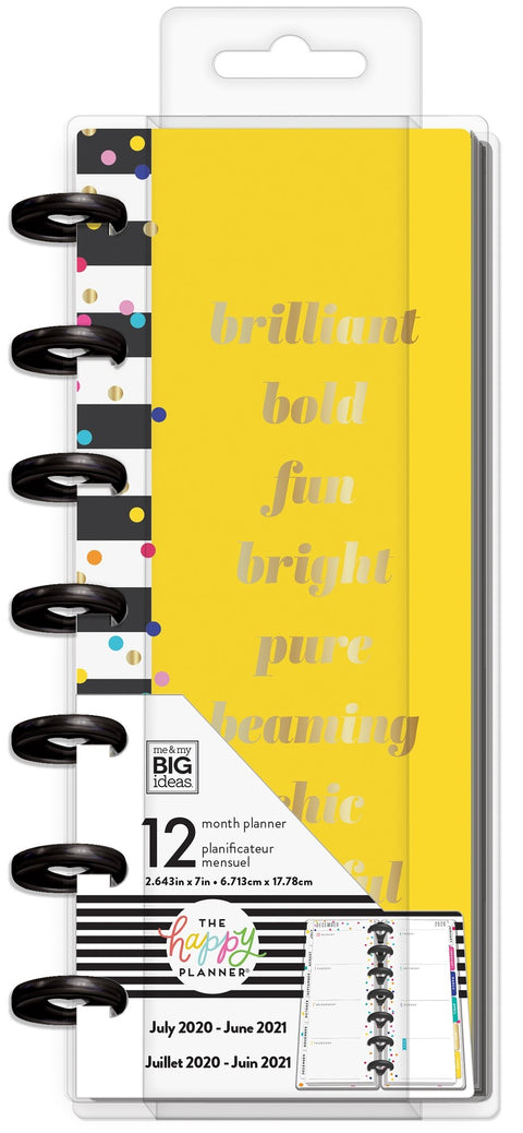 Skinny Mini Happy Planner® - Brilliant Bold - 12 Months