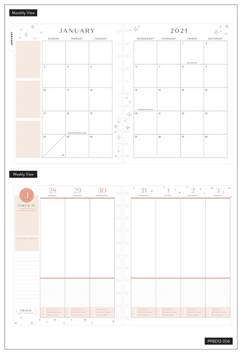 2021 Good Habits Big Vertical Happy Planner® - 12 Months