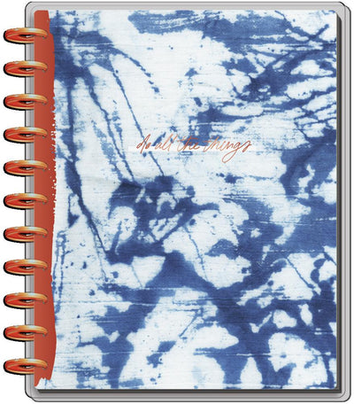 2021 Indigo Tie Dye Big Vertical Happy Planner - 18 Months