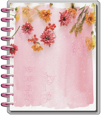 2021 Pressed Florals Big Vertical Happy Planner - 18 Months