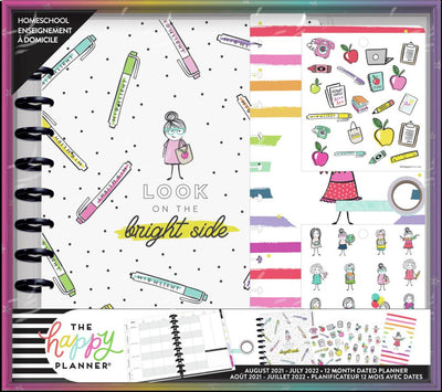 Bright Side Big Homeschool Planner Box Kit - 12 Months