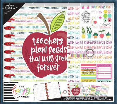 Plant Seeds Big Teacher Planner Box Kit - 12 Months