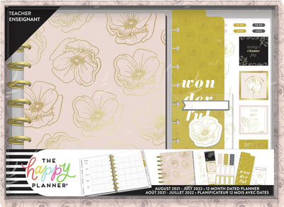 Fancy Florals Classic Teacher Planner Box Kit - 12 Months