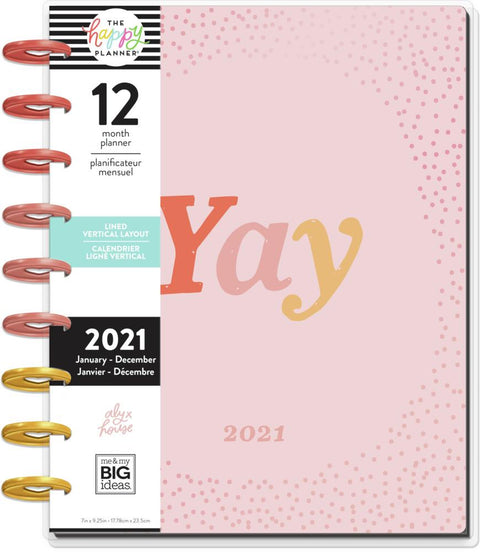 2021 Yay Seasons Classic Lined Vertical Happy Planner® - 12 Months