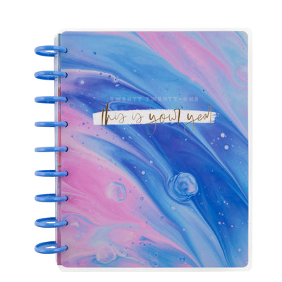 2021 Marbled Paint Classic Vertical Happy Planner® - 12 Months