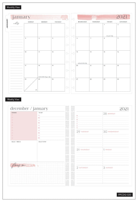 2021 Desert Flower Classic Dashboard Happy Planner® - 12 Months