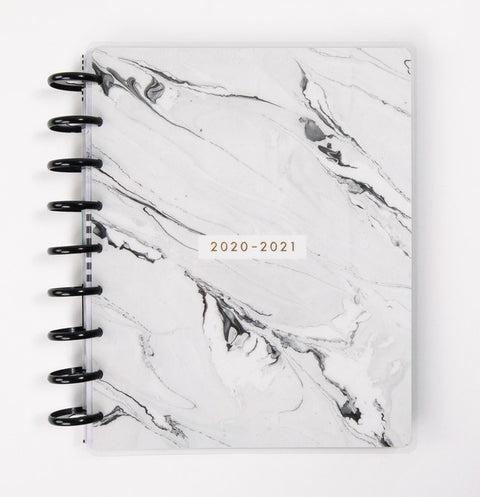 Classic Vertical Hourly Happy Planner® - Neutral Marble - 12 Months