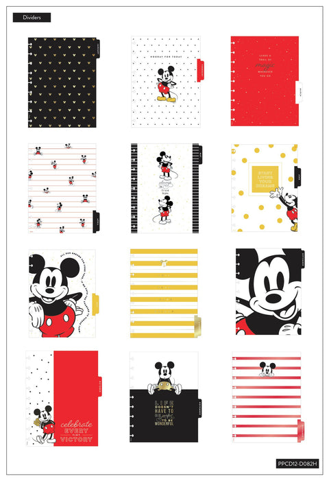 Mickey Mouse Hooray For Today Classic Vertical Happy Planner - 12 Months