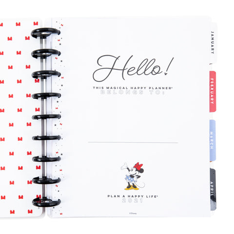 Minnie Mouse Magical Moments Classic Colorblock Happy Planner - 12 Months