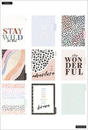 2021 Colorful Leopard Classic Lined Vertical Happy Planner - 18 Months