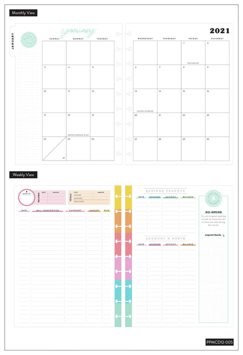 2021 Savvy Saver Deluxe Classic Budget Happy Planner® - 12 Months