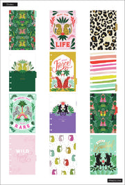 2021 Jungle Vibes Mini Vertical Happy Planner - 12 Months