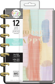 2021 Painterly Pastel Mini Vertical Happy Planner - 12 Months
