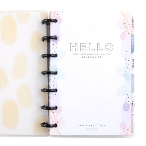 2021  Wellness Warrior Deluxe Mini Wellness Happy Planner® - 12 Months