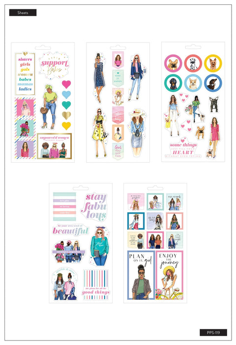 Sticker Sheets - Rongrong - Girls Support Girls