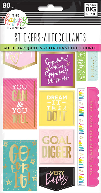 Stickers Sheets - Gold Star Quotes