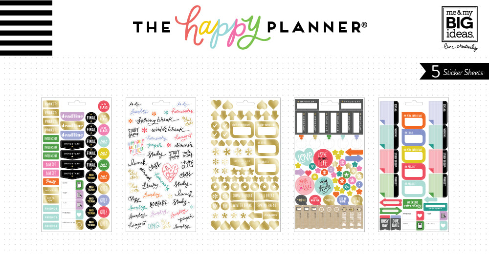 School College Planner Stickers Me My BIG Ideas