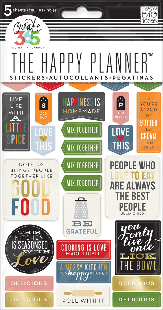 Recipe Organizer Stickers